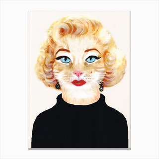 Marilyn Monroe Cat Canvas Print