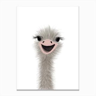 Ostrich Nursery Art  Portrait Canvas Print