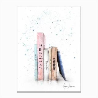 Books Of Me Canvas Print