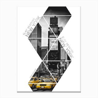 New York City Times Square Coordinates Canvas Print