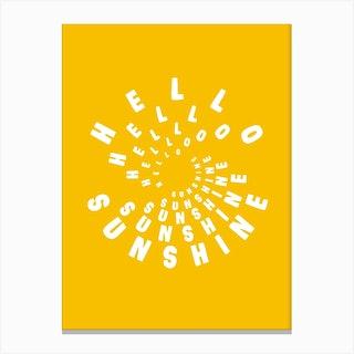 Hello Sunshine Yellow Canvas Print