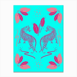 Tiger Garden Canvas Print