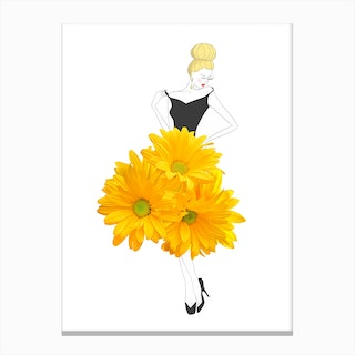 Fashion Chrysanthemums Canvas Print