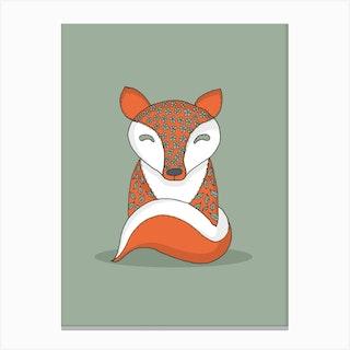 Crafty Fox Canvas Print