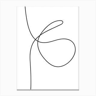 Line Art One Canvas Print
