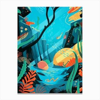Freediving Dream Canvas Print