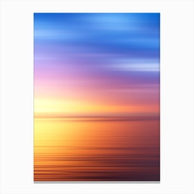 Abstract Sunset IV Canvas Print