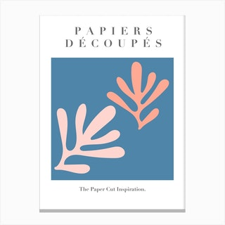 Papiers Decoupes   Blue Pink   Musem Of Modern Art Canvas Print