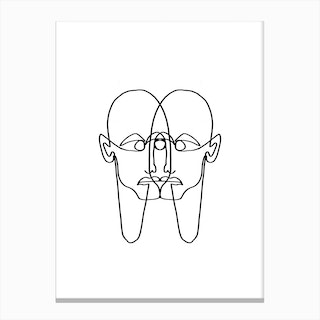 Face Two Face Canvas Print