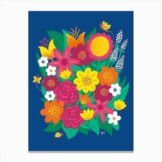 Bouquet Bugs Canvas Print