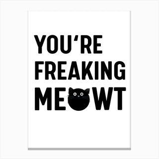 Cat Meowt Canvas Print