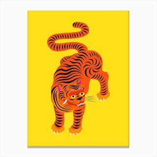 Tiger Yellow Canvas Print