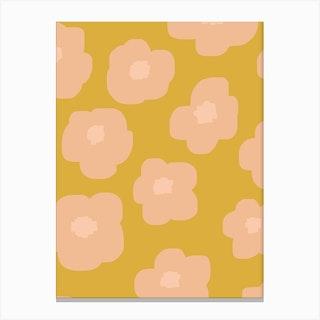 Sookie Floral Pink Yellow Canvas Print