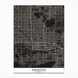 Phoenix Arizona Black Blue Canvas Print