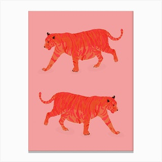 Tiger Illustration Canvas Print