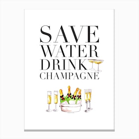 Save Water Canvas Print