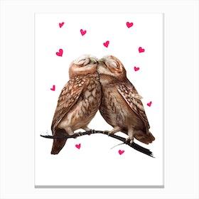 Lovely Owls Canvas Print
