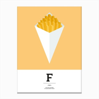 The Food Alphabet – F Canvas Print