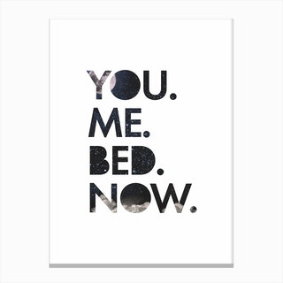 You. Me. Bed. Canvas Print