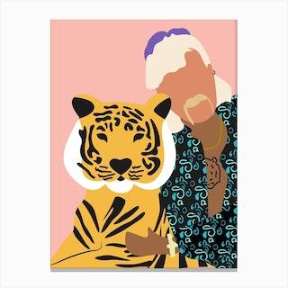 Joe Exotic Pink Tiger 2 Canvas Print