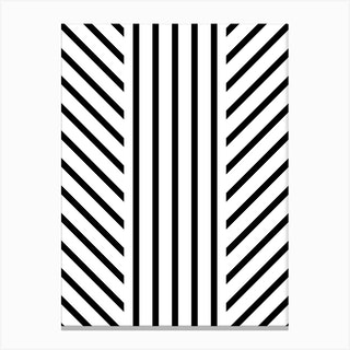 Lined Black Canvas Print
