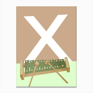 X   Xylofoon Canvas Print