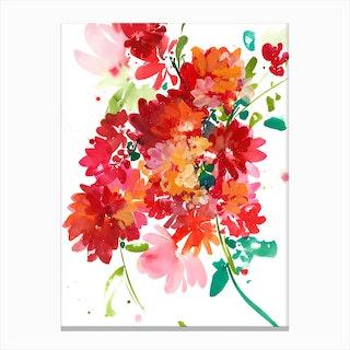 Floral Rouge Canvas Print