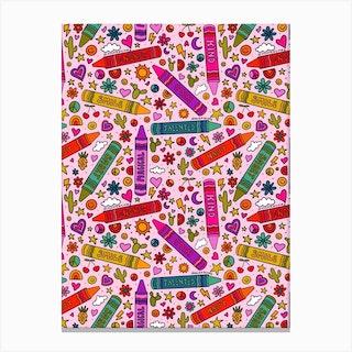 Crayon Print Canvas Print