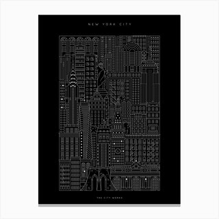 New York City Dark Canvas Print