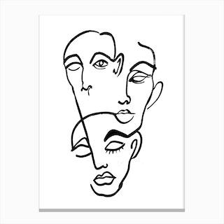 Faces 12 Canvas Print