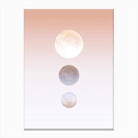 Moon Triplet Canvas Print