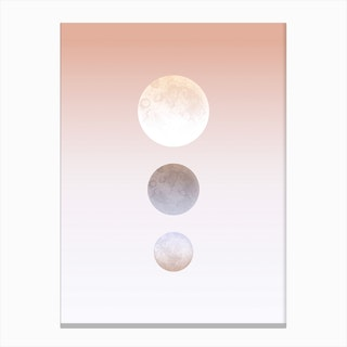 Moon Triplet Canvas Print