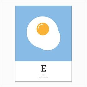 The Food Alphabet – E Canvas Print