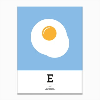 The Food Alphabet – E Canvas Print