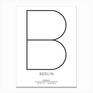 Abstract Berlin Canvas Print
