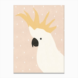 Cockatoo Nursery  Children'S Animal Art Canvas Print