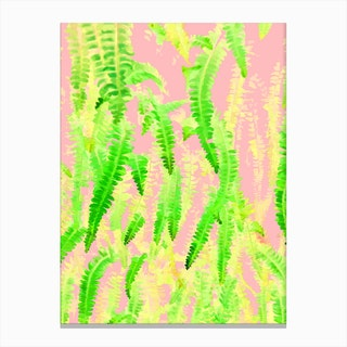 Blush Green Glow Canvas Print