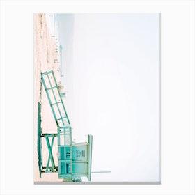 Beach Hut Landscape Canvas Print