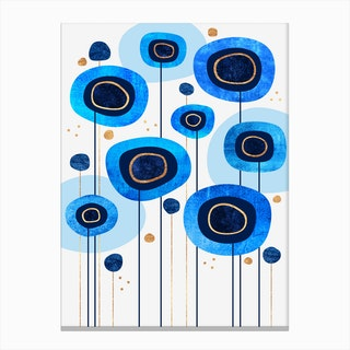 Floral Blues Canvas Print