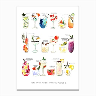 Gin Happy Water Canvas Print