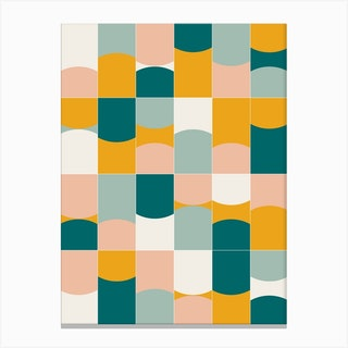 Vivid Tiles 01 Canvas Print