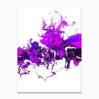 Purple Colorful White Wave Canvas Print