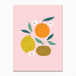 Triple Fruit Canvas Print