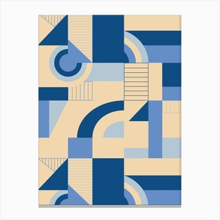Calming Blocks Canvas Print