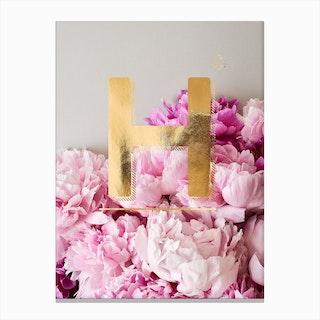 Flower Alphabet H Canvas Print