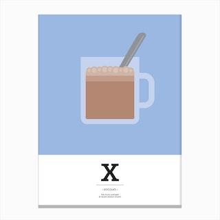 The Food Alphabet – X Canvas Print