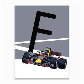 F Formula1 Canvas Print