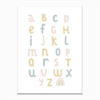 Rainbow Alphabet Canvas Print