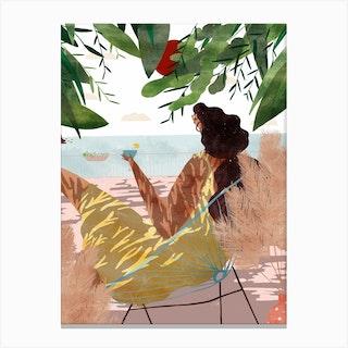 Vue Sur Mer Canvas Print