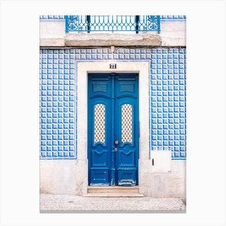 The Blue Door Of Lisbon Portugal Canvas Print